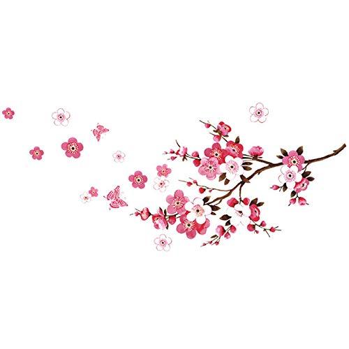 Hermosas Pegatinas De Pared De Flor De Cerezo Decoración Del Dormitorio De La Sala De Estar Flores Calcomanías Para El Hogar Carteles De Arte Mural