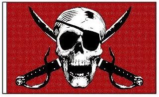 NEW Bandanna Pirate Skull Replacement Flag ATV Bicycle Rhino UTV