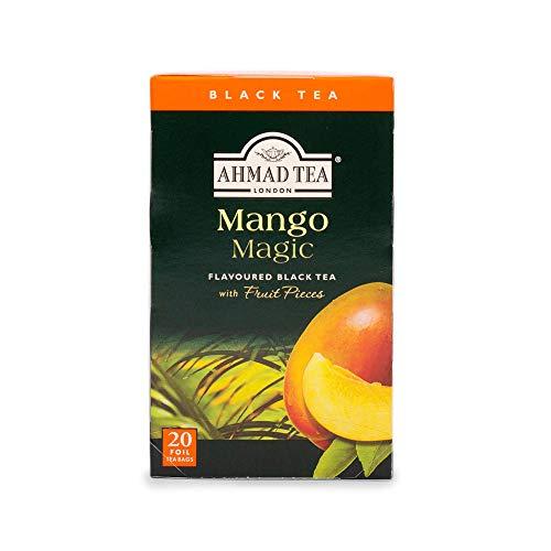 Ahmad Tea Mango Magic Black Tea, 20-Count Boxes (Pack of 6)