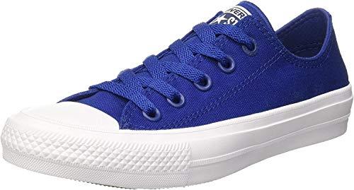 Converse Chuck Taylor All Star II Ox, Zapatillas Unisex Adulto, Blanco Azul, 39.5 EU