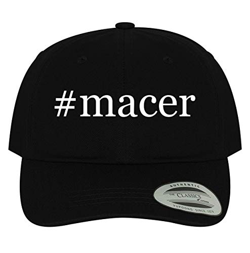 BH Cool Designs #Macer - Men's Soft & Comfortable Dad Baseball Hat Cap, Black, One Size