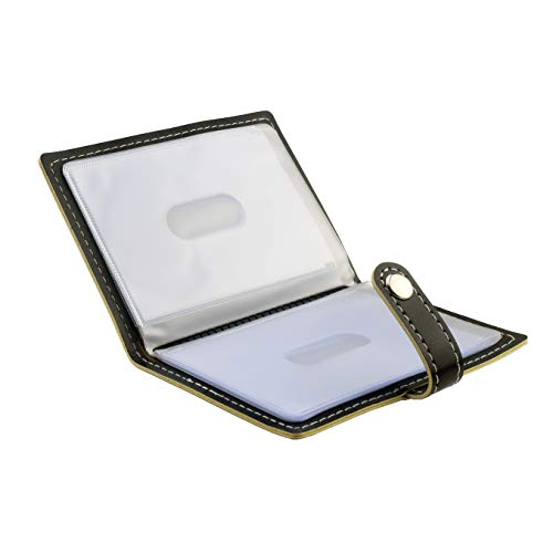 Karlling Slim Minimalist Soft Leather Mini Case Holder Organizer Wallet For 20 Credit Card(Black)