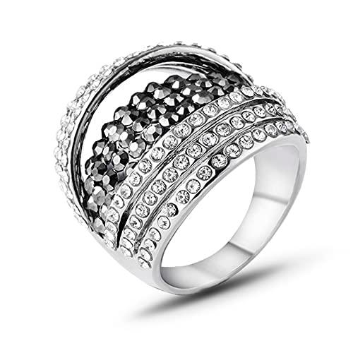 Anillos Anillo Simple y Moderno con Diamantes, Dedo índice, Anillo, Joyas Retro, Accesorios para Hombres y Mujeres.