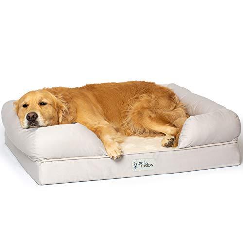 PetFusion Cama Grande para Perros con Espuma viscoelástica sólida de 10 cm.