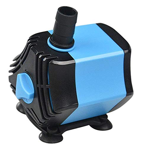 L@LILI Bomba de Agua Sumergible pequeña-Ciclo de Filtro de Acuario Hexagonal, Fuente de Estanque de Bombeo Bomba Sumergible Ultra silencioso,50W