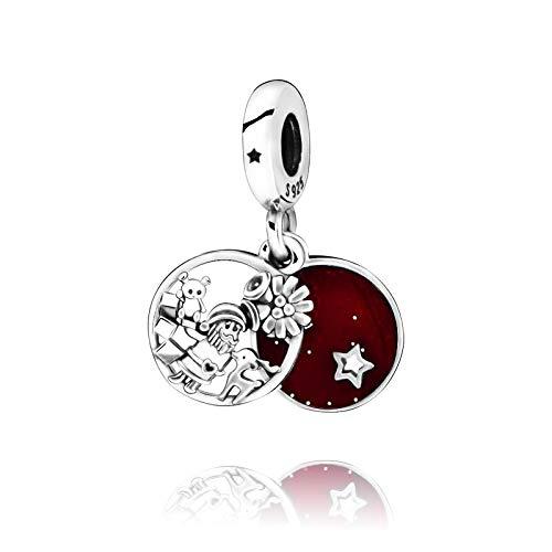 Pandora 925 plata esterlina colgante DIY Navidad nuevo beadssanta amor paz alegría encanto ajuste pandora original pulseras joyería femenina