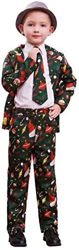 BFUSTYLE Hopsack Blazer Boys Kids Funny Xmas Suit Christmas Party Costume Clothes Size 7 14 product image
