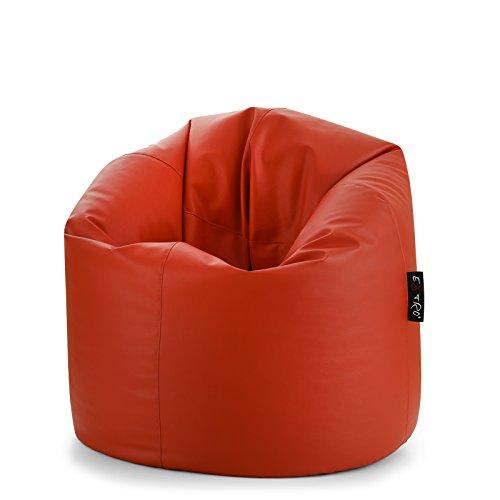 Radical XL Rouge Sac Pouf vide sans polystyrène intérieur avec éclair sur le fonds pour remplissage en cuir mis.85 x 130 cm adaptable à chaque Posture remplissage avec MC. 0,40 de polystyrène en perles