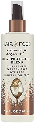 Hair Food Coconut Argan Oil Heat Protectant Spray Blend Paraben Dye Free 6 4 fl oz product image