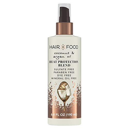 Hair Food Coconut & Argan Oil Heat Protectant Spray Blend, Paraben & Dye Free, 6.4 fl oz