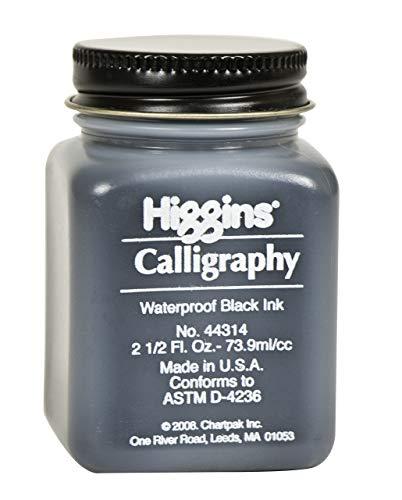 Higgins Black Calligraphy Ink, 2.5 Ounce Bottle (44314)