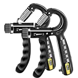 FLYFE Grip Strengthener Hand Grip for Muscle Building, Adjustable Hand Grip Trainers for Men and Women, Gripper Trainer, Grip Exerciser, Forearm Grip Resistance Trainer/Strengthener - 2 Pack