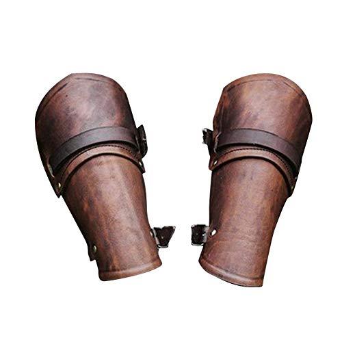 2 X Armstulpe (Paar) Aus Leder Mit Thorshammer, Armschützer LARP Mittelalter Wikinger