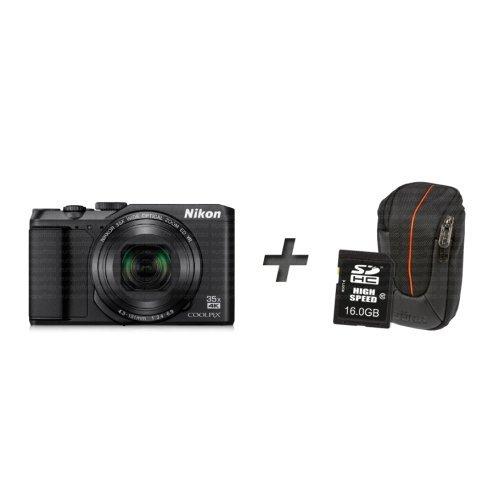Nikon COOLPIX A900 + Tasche + Speicherkarte – schwarz