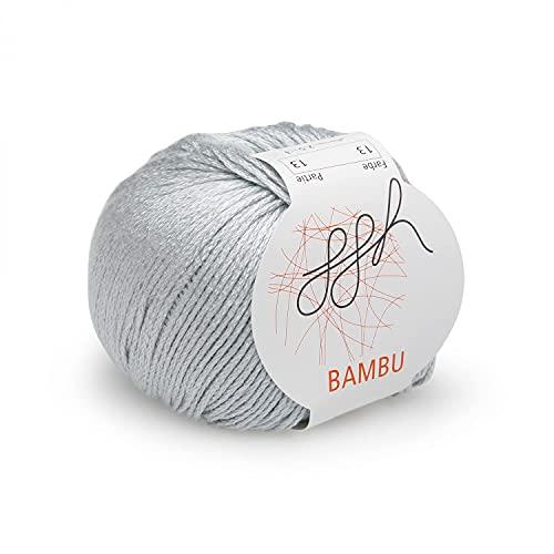 ggh Bambu | Morbida Lana Viscosa di bambù | 50g di Lana per Lavorare a Maglia o all'Uncinetto...