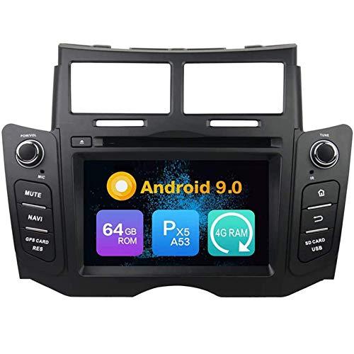 WHL.HH para Yaris 2005-2011 Androide GPS Navegación Cabeza Unidad Carro Estéreo Auto Radio Multimedia Jugador Navegación por satélite IPS HD Tocar Pantalla Apoyo SWC Bluetooth Video Receptor