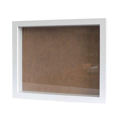Tiefer Bilderrahmen von greepic 25x30cm in vielen Größen und Farben zum befüllen DIY Holz mit Glas Frame Box Objektrahmen Räumlichkeitseffekt