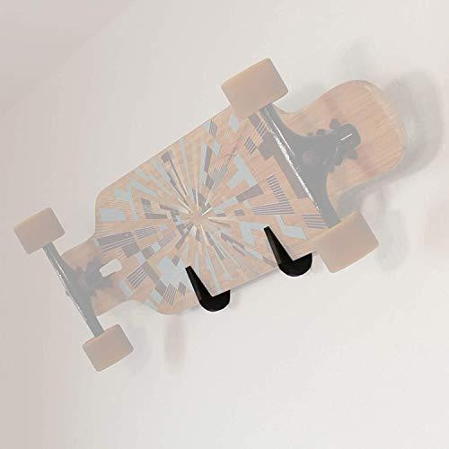 TronicXL Wandhalterung für Skateboard Longboard Snowboard Skateboardhalterung Wand Halter Zubehör Befestigung Wandhalter (Schwarz)