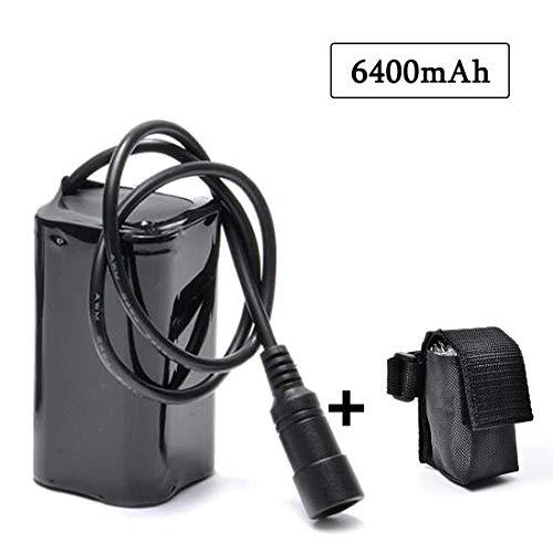 lillimasy Ersatzbatterie für Fahrradlampe, Fahrrad Licht Akku Pack 8.4V 6400mAh für Cree T6 U2 Licht LED Fahrradlampe - Bajonettanschluss
