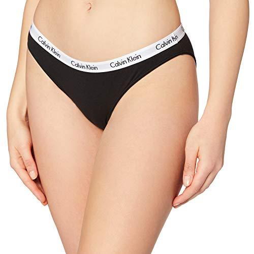 Calvin Klein Damen Slip CAROUSEL - BIKINI, Gr. 38 (Herstellergröße: M), Schwarz (BLACK 001)