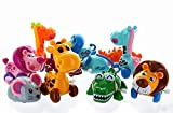 "GIFTEXPRESS 12 Pieces 3"" - 4"" Assorted Zoo Animal Wind Up Toys for Kids Party Favors - Perfect Playing Size for age 3 – 10"