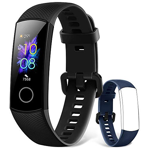 HONOR Band 5 Smartwatch Fitness Tracker Monitoraggio SpO2, Battito Cardiaco 24/7 e Sonno, Display Touch AMOLED 0.95 Pollici, Schermo Curvo da 2.5D, Sportivo Activity Tracker, Nero (HONOR Band 5)