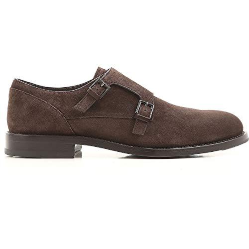 Tod's Herren Xxm0xr0q650re0s800 Braun Wildleder Monk-Schuhe