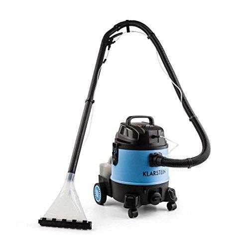 Klarstein Reinraum 2G Nass-/Trockensauger Staubsauger Teppichreiniger Shampooreinigung (stabiler 20 Liter-Tank- 1250 Watt Saugleistung, Abschaltautomatik, Viel Zubehör) schwarz-blau