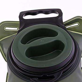 F Fityle 2L Portable Vessie D'hydratation Réservoir d'eau Poche de Survie Sac à Dos pour Vélo Cyclisme Escalade Randonnée-Facile à Nettoyer - armée Verte, 2L