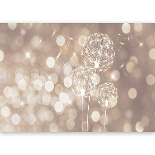 murando - XXL Fototapete 500x280 cm - Größe Format - Vlies Tapete - Moderne Wanddeko - Design Tapete - Wandtapete - Wand Dekoration - Abstrakt Blumen PusteBlume b-C-0122-a-d