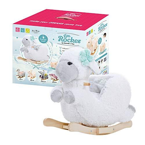 GERARDO`S Oveja balancín de felpa con música. Oveja balancín para niños pequeños. Animal balancín de bebé para niños pequeños. Animal balancín de peluche para niños de 12 meses en adelante.