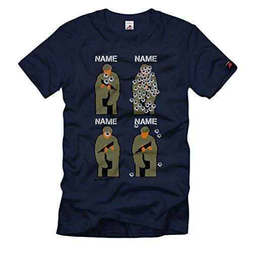 Schützenscheibe Personalisiert Gruppen Shirt Sportschutze Airsoft T-Shirt#33469, Größe:XXL Herren, Farbe:Dunkelblau