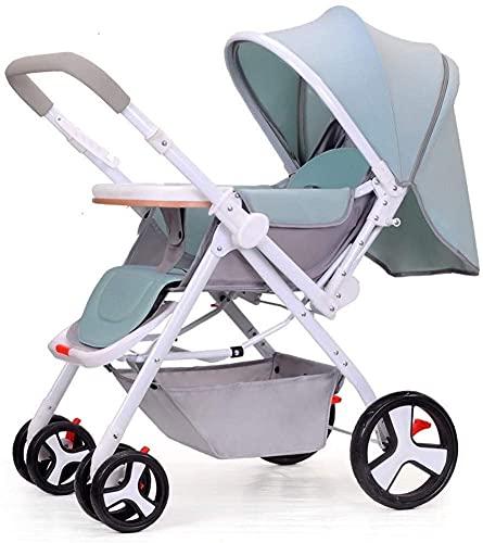 Cochecito de cochecito de bebé liviano portátil, cochecito de bebé niño de dos vías Portátiles sentarse mentira niño pliegue el carro de bebé, para bebés recién nacidos sentarse y dormir cochecito