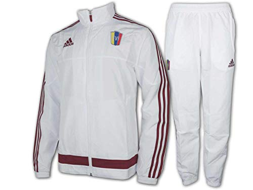 adidas FVF Venezuela Sport-Anzug weiß Presentation Suit Fan Trainingsanzug, Größe:XL