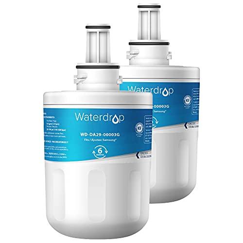 Waterdrop 2X DA29-00003G Fridge Water Filter, Compatible with Samsung Aqua Pure Plus DA29-00003G DA29-00003B DA97-06317A DA61-00159A HAFCU1/XAA HAFIN2/EXP APP100 WF289