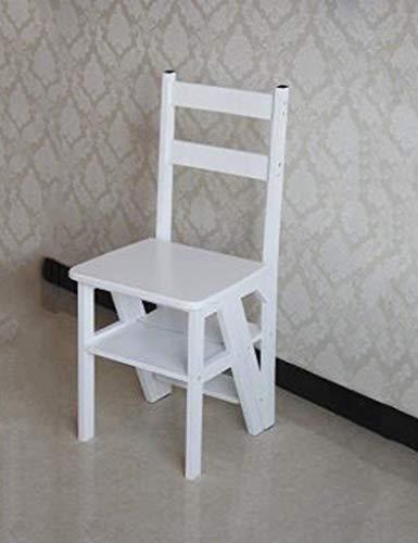 GBX@I Trittschemel Für Erwachsene Massivholz-Dual-Use-Treppe Stuhl Leiter-Klappstuhl Haushalt Multifunktions4 Tier / H1 / H1