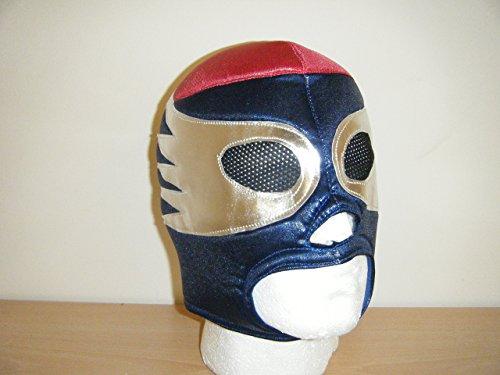 Wrestling Masks UK Men's Blazer Style Head Fancy Dress Costume Mask One Size Blue