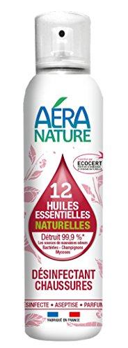 AERA NATURE : Désinfectant CHAUSSURES, contrôlé ECOCERT, aux 12 huiles essentielles naturelles, 125ml, by Laboratoire Columbus Natura