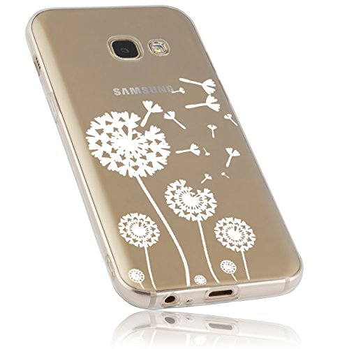 mumbi Hülle kompatibel mit Samsung Galaxy A3 2017 Handy Hülle Handyhülle mit Motiv Pusteblume, transparent