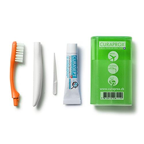 Curaprox Travel Set (Reise-Zahnbürste und Zahnpasta) grün 1 Stück