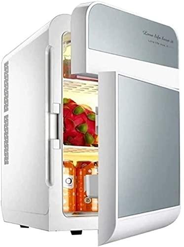 XiYou Refrigerador de Coche de Doble Voltaje 20L Mini-Nevera Nevera eléctrica 12V 240V Refrigerador portátil para Viajes, Acampar, picnics (Color: Dorado)