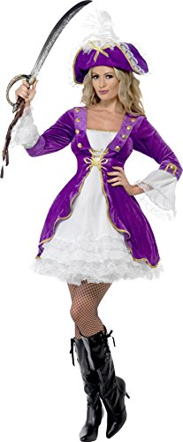 Aptafêtes - CS922643/S - Costume Beauté Pirate - Violet - Taille S