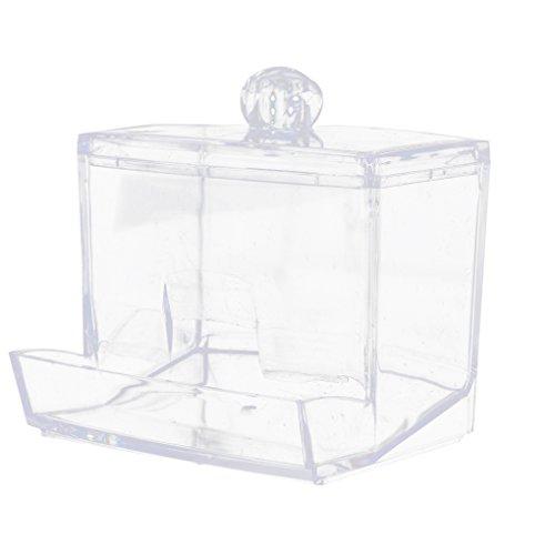 zhibeisai Clear Acrylic Jewelry Cotton Pad Holder Cotton Swab Box Makeup Storage Case Plastic Cosmetic Organizer