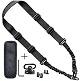 Rifle Sling Attachment - 2 Point Sling to 1 Point Sling with Quick Detach Push Button Release Swivel Mount and Adjustable Shoulder Strap - Heavy Duty Metal and Nylon - Multi-Function Gear or Gun Sling