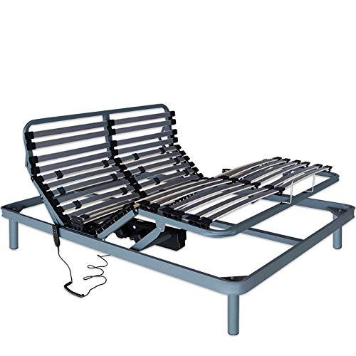 Ventadecolchones - Cama Articulada Reforzada Adaptator con Motor eléctrico Medida 135 x 190 cm