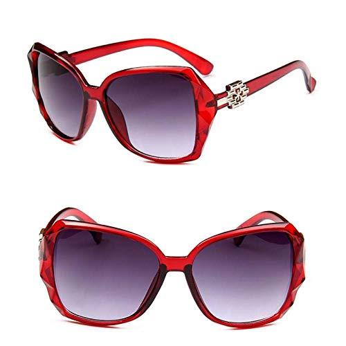 Gafas de Sol Sunglasses Moda Gafas De Sol De Montura Grande Mujeres Diseñador De La Marca Lente Gradiente Gafas De Sol De Conducción Señoras Redwine
