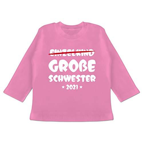 Geschwisterliebe Baby - Einzelkind Große Schwester 2021-18/24 Monate - Pink - große Schwester 2020 - BZ11 - Baby T-Shirt Langarm