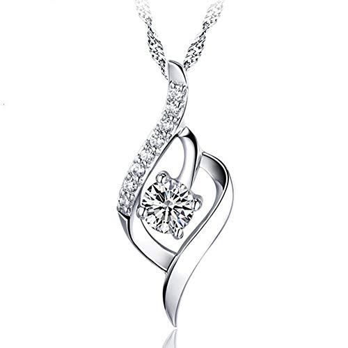 miaoss Sterling zilveren ketting dames verjaardagscadeau hanger korte sleutelbeen ketting