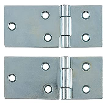 Zinc Unichrome Cold-Roll Steel Drop Leaf Table Hinge | 3-1/8 x 1-5/16 | One Pair | Old Furniture Reproduction Hardware | H14-DH173