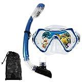 HUXIGU Gafas de buceo para niños (3 – 8), máscara de esnórquel,...